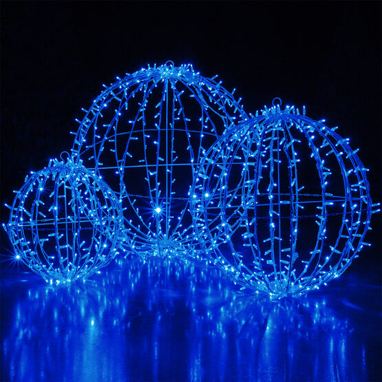 Commercial Mega Sphere Light Ball, Fold Flat, Blue LED