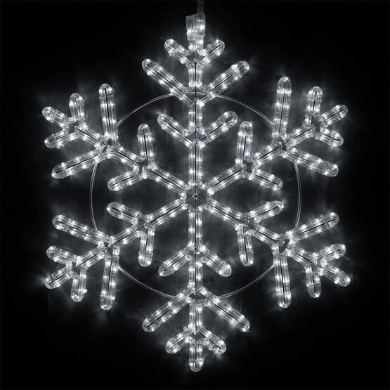 Snowflake, Cool White Lights