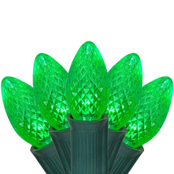 C7 Commercial LED String Lights, Green