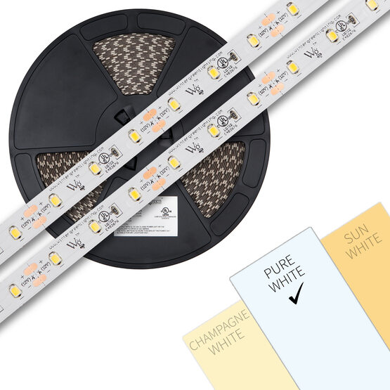 Pure White 12V LED Tape Light