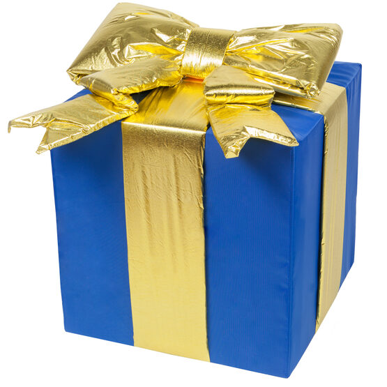 Blue Outdoor Christmas Gift Box