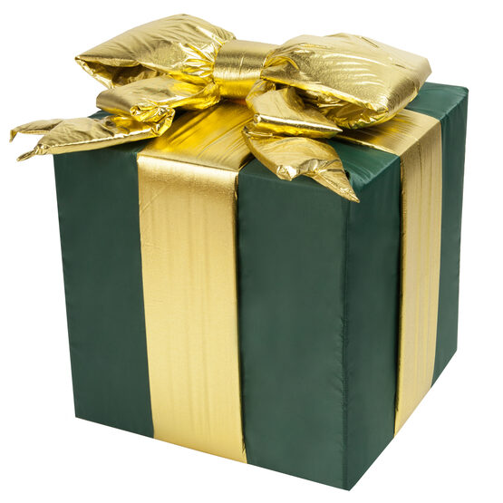 Green Outdoor Christmas Gift Box