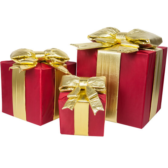 Red Outdoor Christmas Gift Box