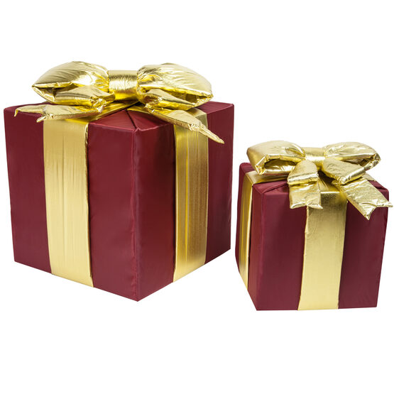 Burgundy Outdoor Christmas Gift Box