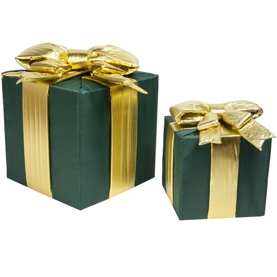 Green Outdoor Christmas Gift Box