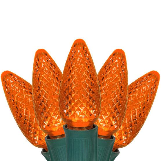 C9 Commercial LED String Lights, Amber, 25'