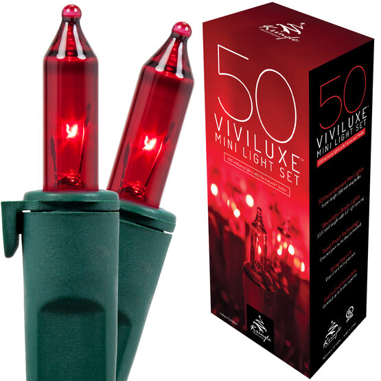 Viviluxe Red Mini String Lights