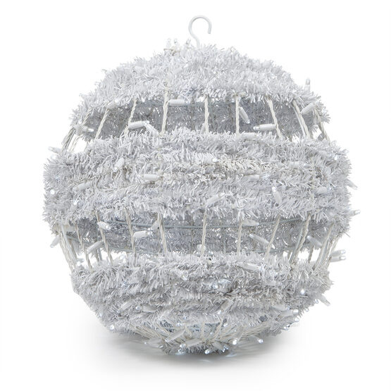Commercial Light Ball With Tinsel Swirl, Cool White LED
