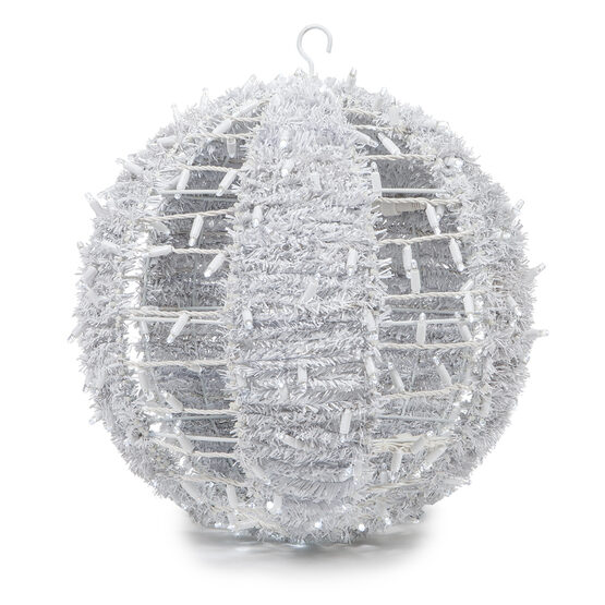 Commercial Light Ball With Ornamental Tinsel, Cool White LED