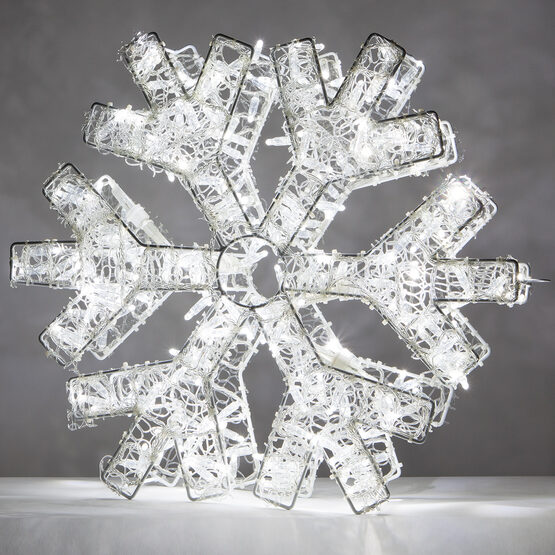 LED Dimensional Snowflake, Cool White Lights
