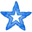 LED Five Point Dimensional Star, Blue Lights