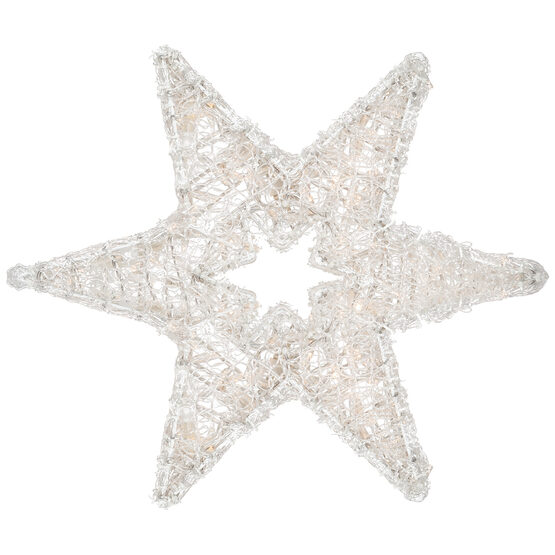 LED Dimensional Six Point Star, Warm White Lights