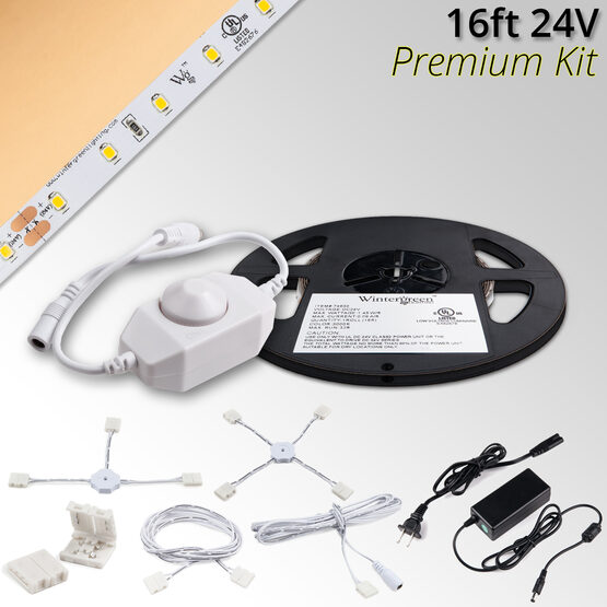 Premium 24V LED Tape Light Kit, Sun Warm White