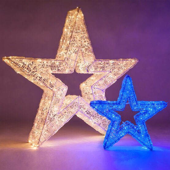 LED LED Five Point Dimensional Star, Warm White Lights