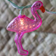 Pink Flamingo Light String, 10 Clear Lights