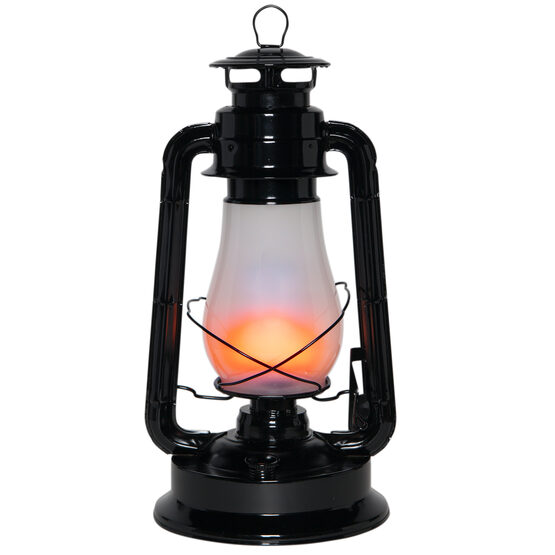 Black Metal Digital Flame LED Lantern
