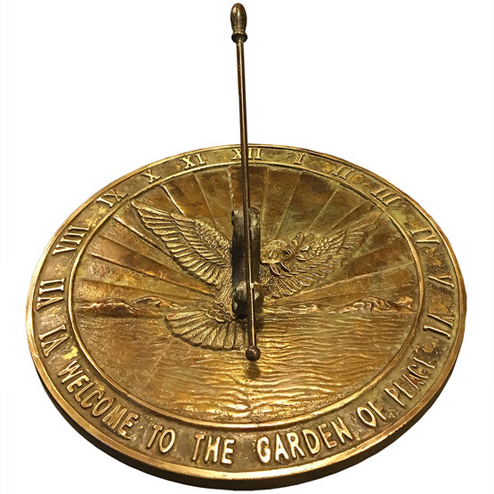 Dove of Peace Brass Garden Sundial