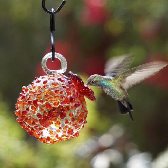 Amber Pebble Hummingbird Feeder