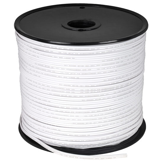 White Outdoor Electrical Zip Cord Wire, 18 Gauge