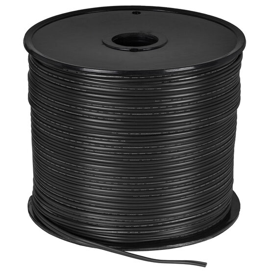 Black Outdoor Electrical Zip Cord Wire, 18 Gauge