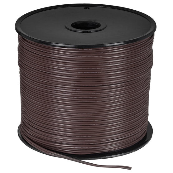 Brown Outdoor Electrical Zip Cord Wire, 18 Gauge