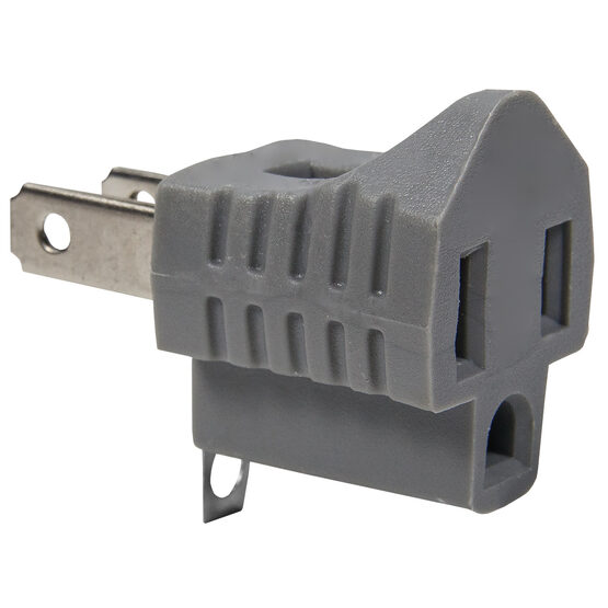 3-to-2 Grounding Plug, Grey