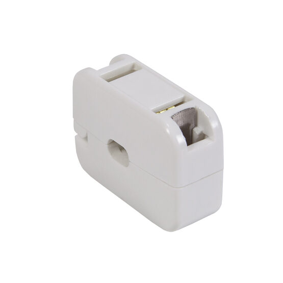 Snap-On Female Zip Plug, SPT1, White