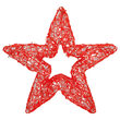 LED LED Five Point Dimensional Star, Red Lights