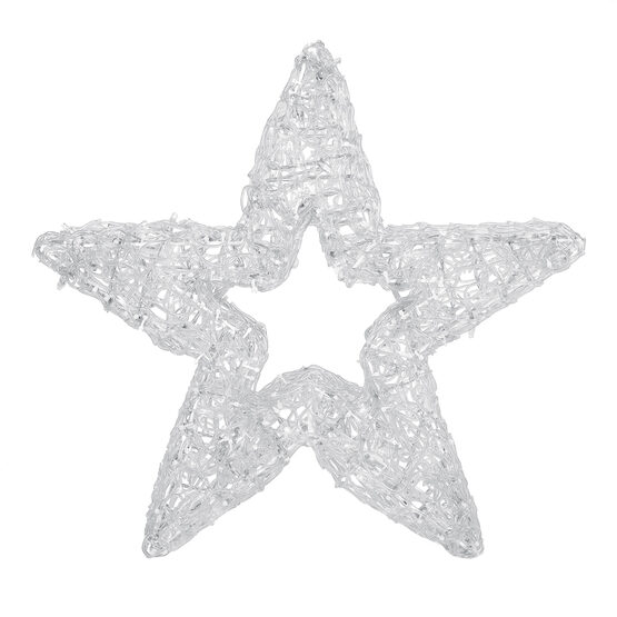 LED LED Five Point Dimensional Star, Cool White Lights