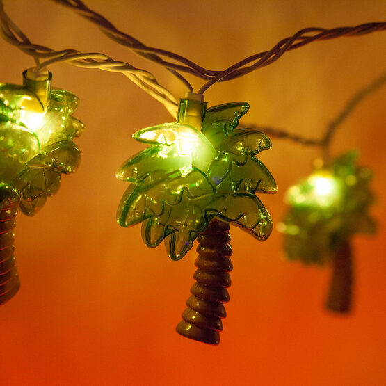 Palm Tree String Lights, 10 Clear Lights