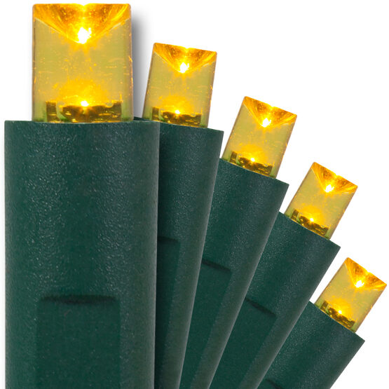 Yellow Christmas Lights, 50 ct, LED Mini