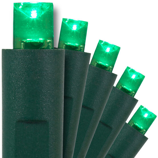 Green LED Christmas Lights, 50 ct, 5MM Mini