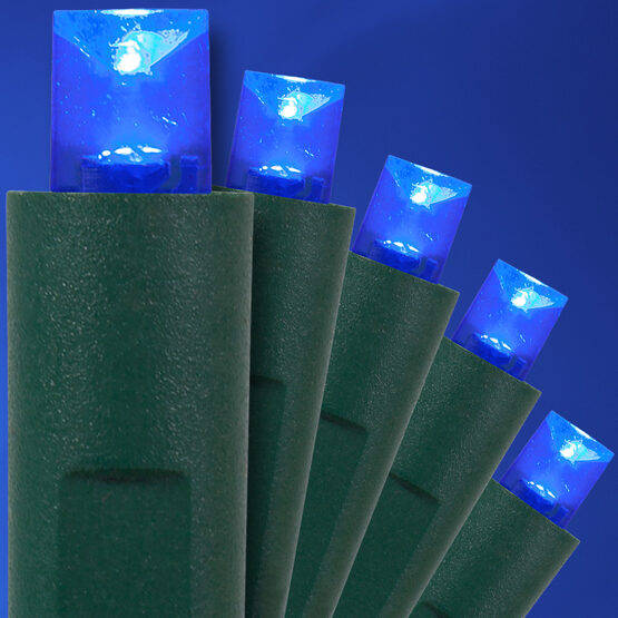 Blue LED Christmas Lights, 50 ct, 5MM Mini