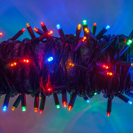 Multicolor LED String Lights, 50 ct, 5MM Mini