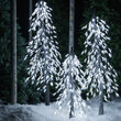 3' Cool White LED Frosted Alpine Wisp Tree