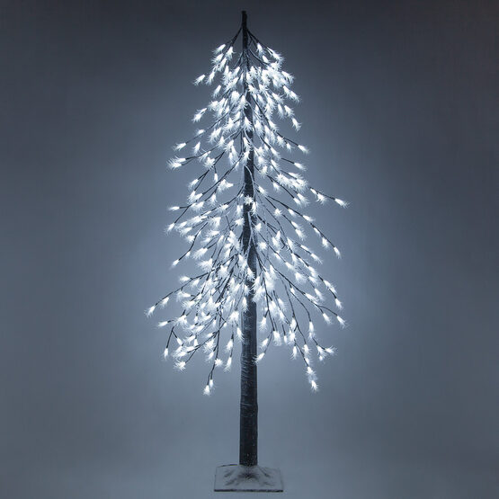 6' Cool White LED Frosted Alpine Wisp Tree