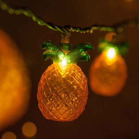 Pineapple String Light Set, 10 Clear Lights