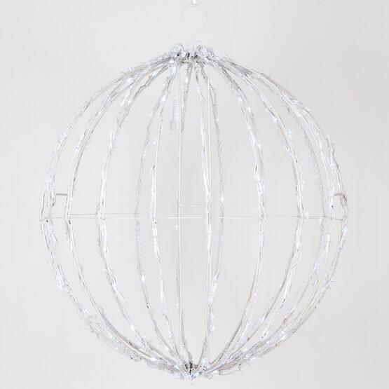 Light Ball, Fold Flat White Frame, Cool White LED