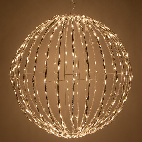 Light Ball, Fold Flat White Frame, Warm White LED