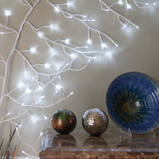 White Climbing Vine LED Lighted Branches, Cool White Lights, 1 pc