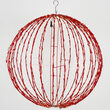 Light Ball, Fold Flat Red Frame, Red LED