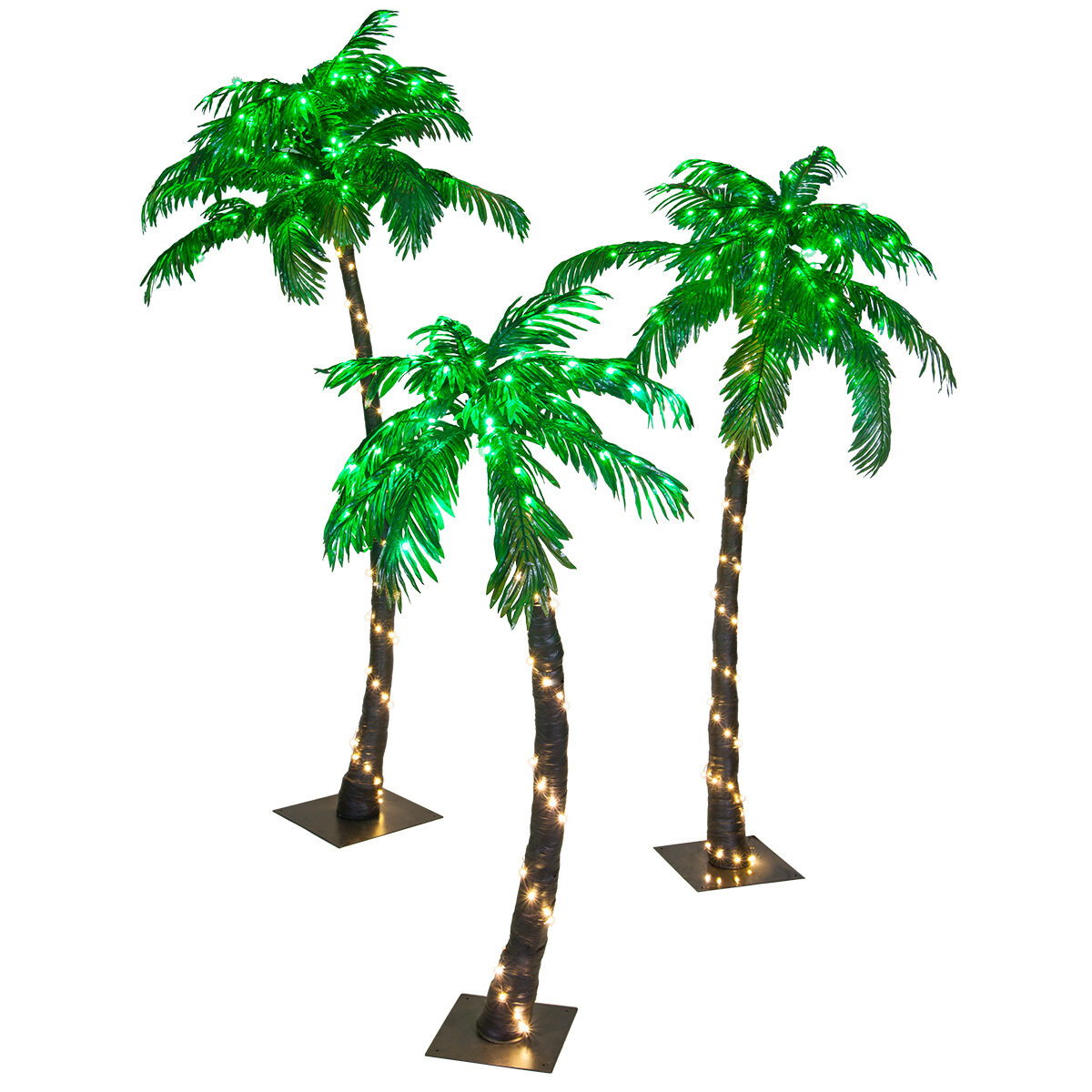 Curved LED Lighted Palm Tree with Green Canopy  sc 1 st  Yard Envy & Curved LED Lighted Palm Tree with Green Canopy - Yard Envy