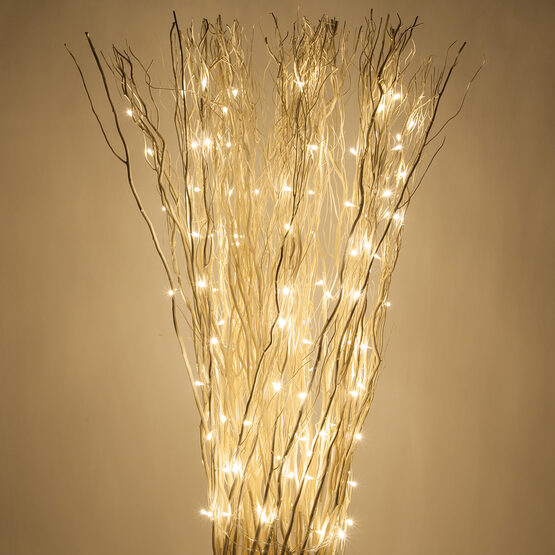 White Free Standing Willow LED Lighted Branches, Warm White Lights, 1 pc