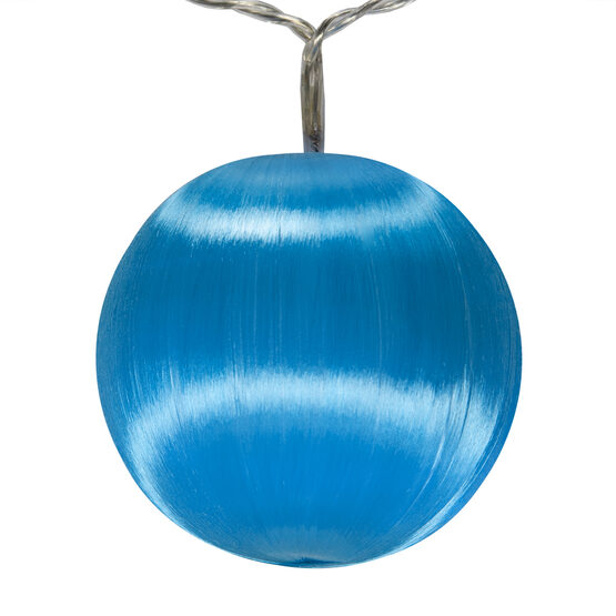 Battery Operated  Blue Ball Ornament Light Set, 10 Blue LED Lights