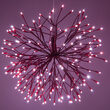 "24"" Red Starburst LED Lighted Branches, Red-Cool White Lights, 1 pc"