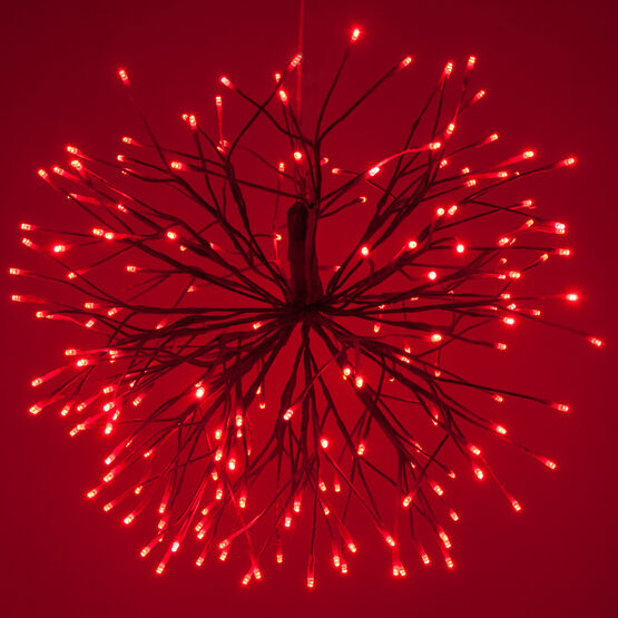 Red Starburst LED Lighted Branches, Red-Cool White Lights, 1 pc