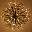 Brown Starburst LED Lighted Branches, Warm White Twinkle Lights, 1 pc