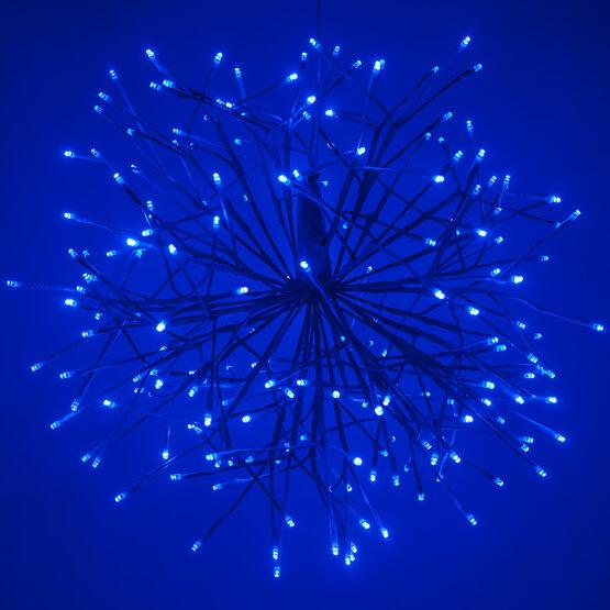 "24"" Blue Starburst LED Lighted Branches, Blue-Cool White Lights, 1 pc"