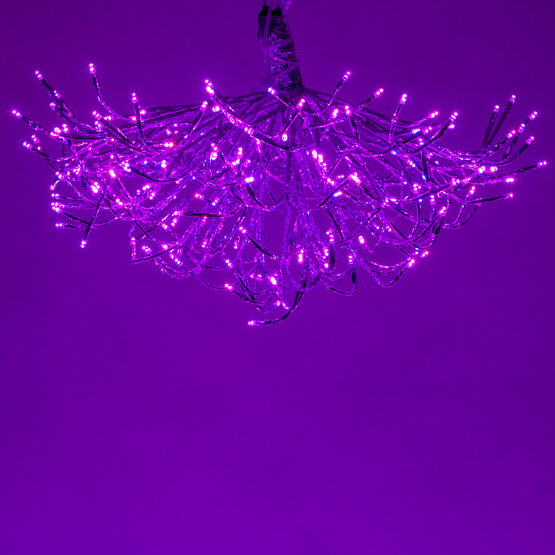 Silver Starburst LED Lighted Branches, RGB Lights, 1 pc