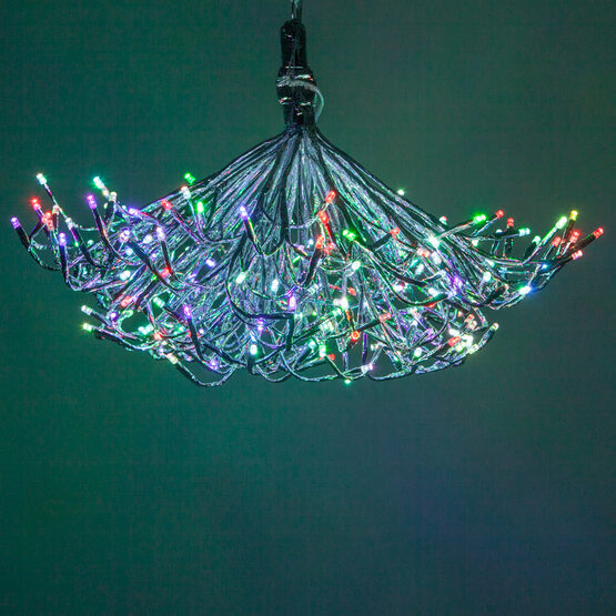Silver Starburst LED Lighted Branches, Multicolor Twinkle Lights, 1 pc